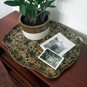 Other - Vintage Floral Jewelry Vanity Tray